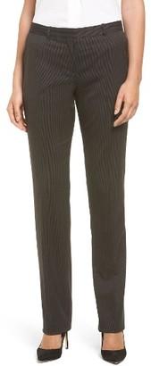 Women's Boss Tamea8 Pinstripe Stretch Wool Suit Trousers $285 thestylecure.com