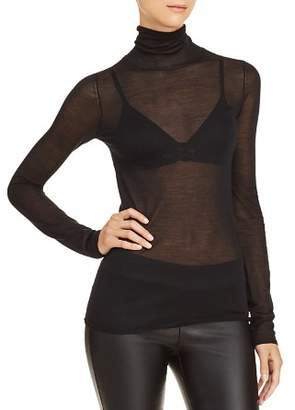 Elizabeth and James Cole Sheer Turtleneck Top