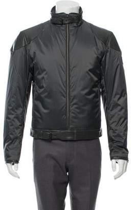 Belstaff Leather-Trimmed Puffer Jacket