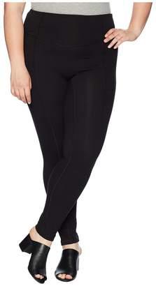 Hue Plus Size Hold It High-Waist Cotton Leggings Women's Casual Pants