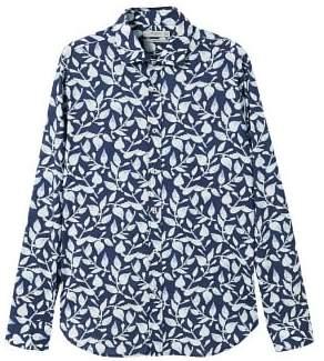 Mango man MANGO MAN Slim-fit leaf-print shirt