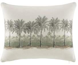 Tommy Bahama Canvas Stripe Breezer Palm Decorative Pillow