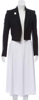 Anthony Vaccarello Embellished Open Front Tailcoat