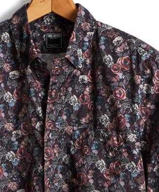 Todd Snyder Thomas Mason Floral Shirt in Burgundy