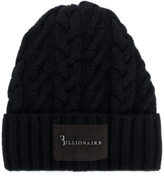 Billionaire cable-knit beanie