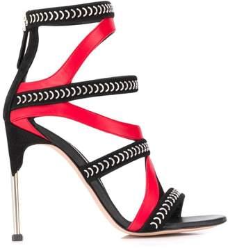Alexander McQueen pin heel cage sandals