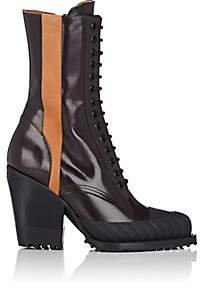 Chloé Women's Rylee Spazzolato Leather Ankle Boots - Brown