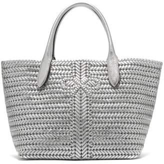 Anya Hindmarch The Neeson Medium Metallic Leather Tote Bag - Womens - Silver