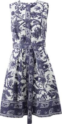 Oscar de la Renta Button Front Dress