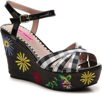 Betsey Johnson Alpha Wedge Sandal - Women's