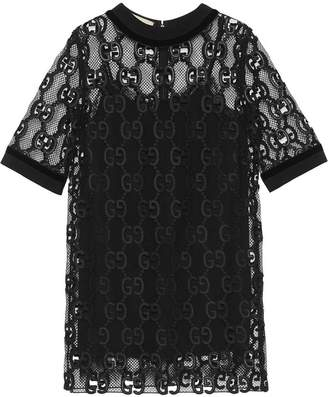 Gucci GG leather macramé dress