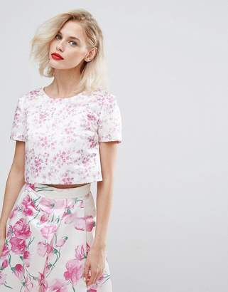 Co Horrockses Blossom Print Crop Top Ord