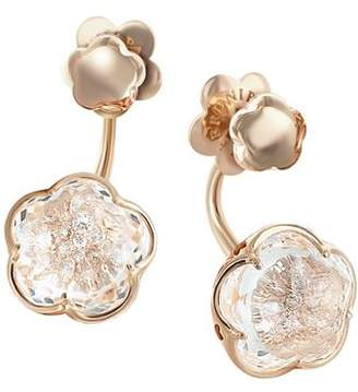 Pasquale Bruni 18K Rose Gold Bon Ton Champagne Diamond Floral Ear Jackets
