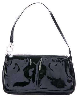 Salvatore Ferragamo Vinyl Zip Shoulder Bag
