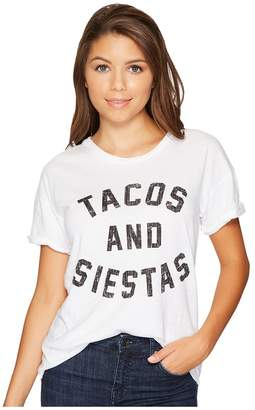 Original Retro Brand The Tacos and Siestas Slub Rolled Short Sleeve Tee Women's T Shirt