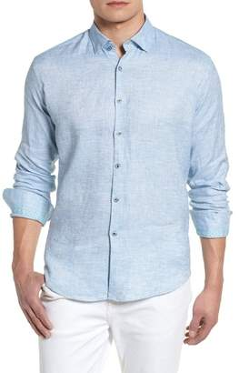 Stone Rose Linen Blend Slim Sport Shirt
