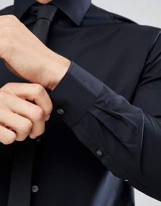 Michael Kors Slim Easy Iron Smart Shirt In Black