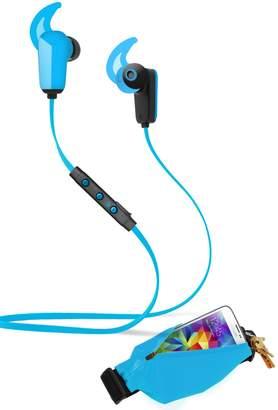 Active Pro Sports Bluetooth 4.0 Earbuds & Running Belt 2-Piece Set - Blue