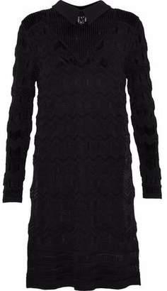 M Missoni Jacquard-Knit Shirt Dress