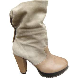 Robert Clergerie Beige Leather Ankle boots