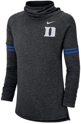 Nike Women's Duke Blue Devils Logo Funnel Neck Long Sleeve T-Shirt