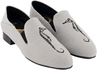 "Hexa Speedey 1"" Canvas Vegan Loafer - Grey Color"