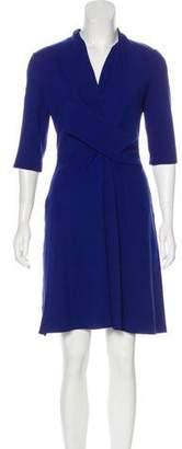 Giorgio Armani A-Line Three-Quarter Sleeve Dress