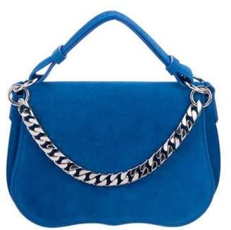 Calvin Klein Suede Chain-Link Satchel silver Suede Chain-Link Satchel