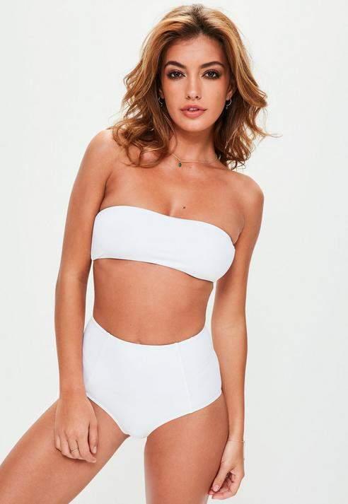 White Clean Bandeau Bikini Top