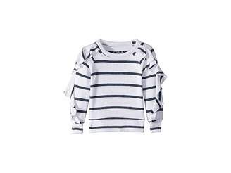 Chaser Kids Extra Soft Love Knit Ruffled Sleeve Pullover Sweater (Toddler/Little Kids)