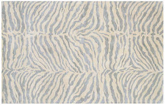 One Kings Lane Wilderness Rug - Silver Blue