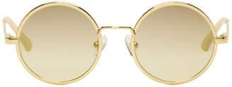 Dries Van Noten Gold Linda Farrow Edition 155 C3 Sunglasses