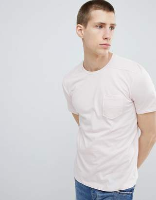Benetton Pocket T-Shirt In Pink