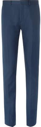 Acne Studios Blue Brobyn Slim-Fit Linen And Cotton-Blend Suit Trousers