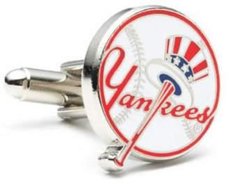 New York Yankees Silver Plated Baseball Cufflinks