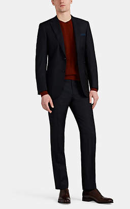 Brioni Men's Brunico Pinstriped Wool-Silk Two-Button Suit - Navy