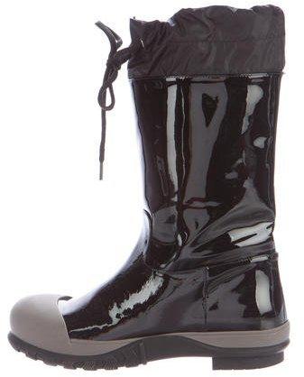 Miu MiuMiu Miu Cap-Toe Mid-Calf Boots