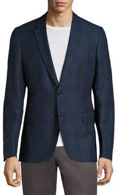 Paul SmithPaul Smith Soho Italian Plaid Linen Blazer