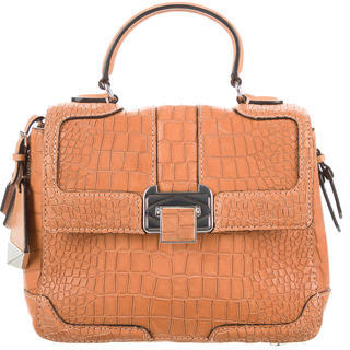 Rebecca Minkoff Small Embossed Leather Satchel $95 thestylecure.com