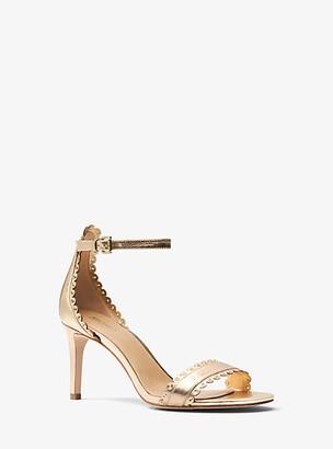 Michael Kors Jessie Metallic Leather Sandal