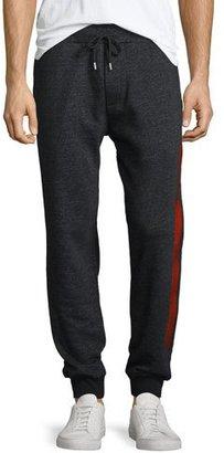 McQ Alexander McQueen Side-Stripe Sweatpants, Black Melange $315 thestylecure.com