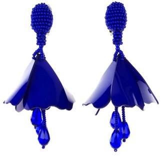 Oscar de la Renta Black Mini Impatiens Drop Earrings