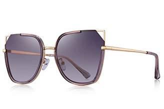 2e0feb995d Cat Eye OLIEYE Polarized Cateye Sunglasses for Women Fashion Mirrored Lens  Metal Frame