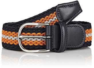 Barneys New York Men's Woven Elastic Belt
