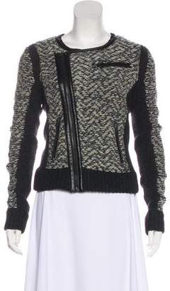 Rag & Bone Knit Zip-Up Jacket