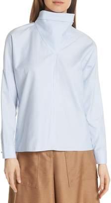 Tibi Tuxedo Shirting Bandana Top