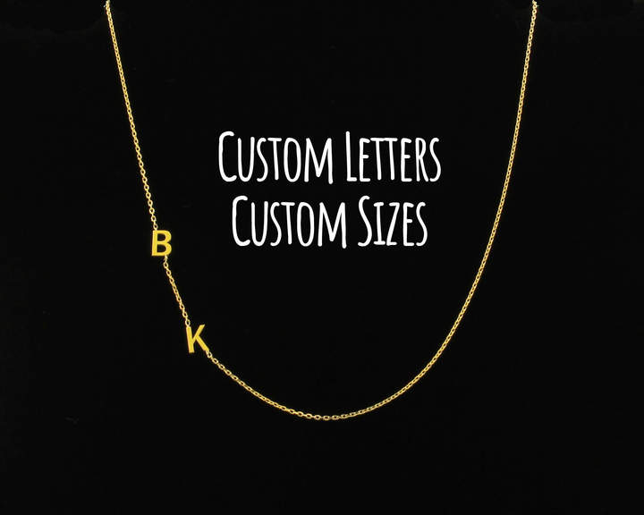 Etsy Sideways Initial Necklace, Initial Necklace, Dainty Necklace, Letter Necklace, Monogram Necklace, Pe