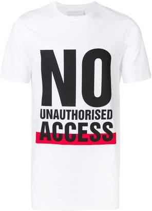 Neil Barrett No Unauthorised Access T-shirt