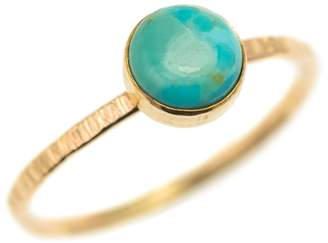 FEATHER+STONE - Gold Arizona Turquoise Ring