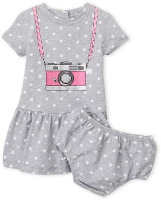 Kate Spade Infant Girls) Two-Piece Polka Dot Camera Dress & Bloomers Set